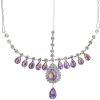 Head Jewellery Drop Purple Aurora Borealis